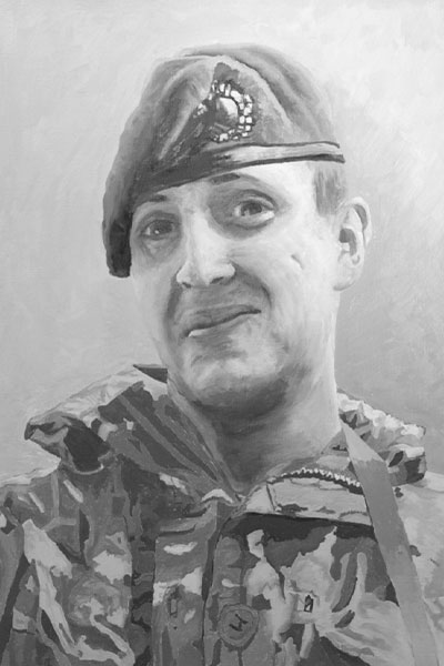painting of a man in uniform